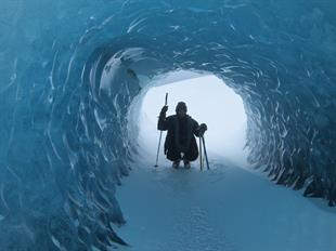 Blue Ice Cave Adventure from the Glacier Lagoon